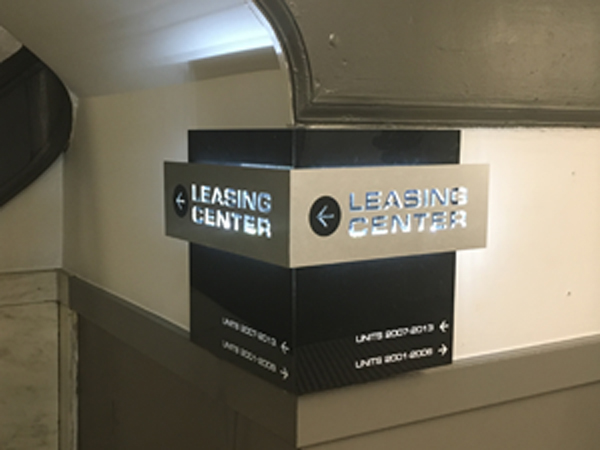 Leasing Center Corner Sign