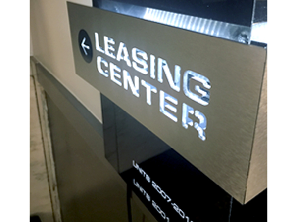 Leasing Center Sign